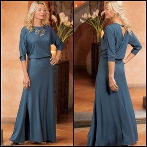 Soft Surroundings Sloane Open Back Dress